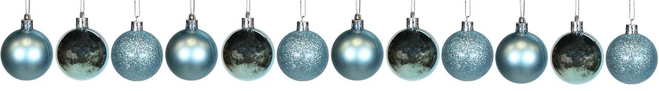 Conjunto De Bolas Natalinas Azul - 12 Unidades