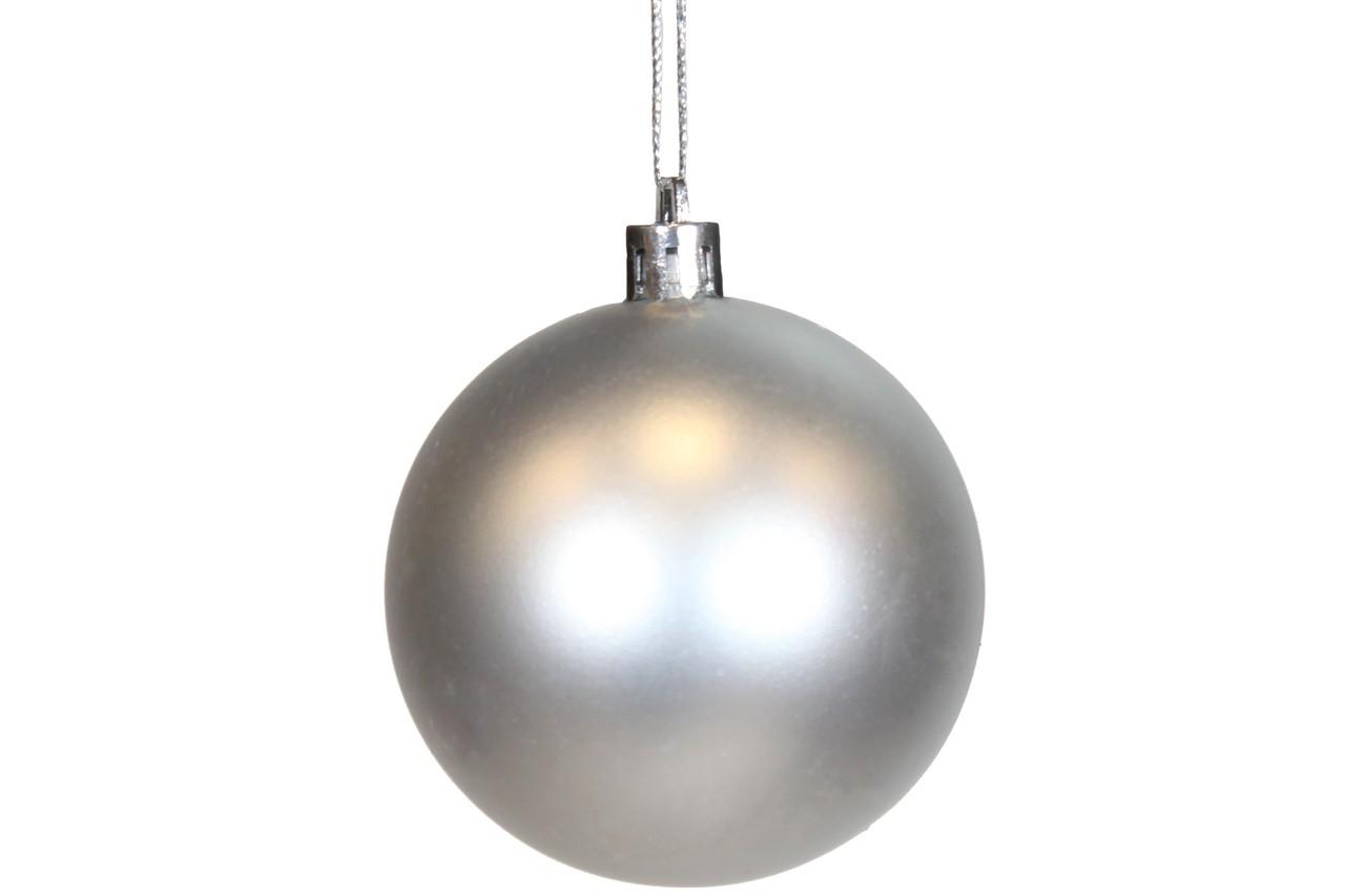 Conjunto de Bolas Natalinas  Cor prata Com 8 Unidades