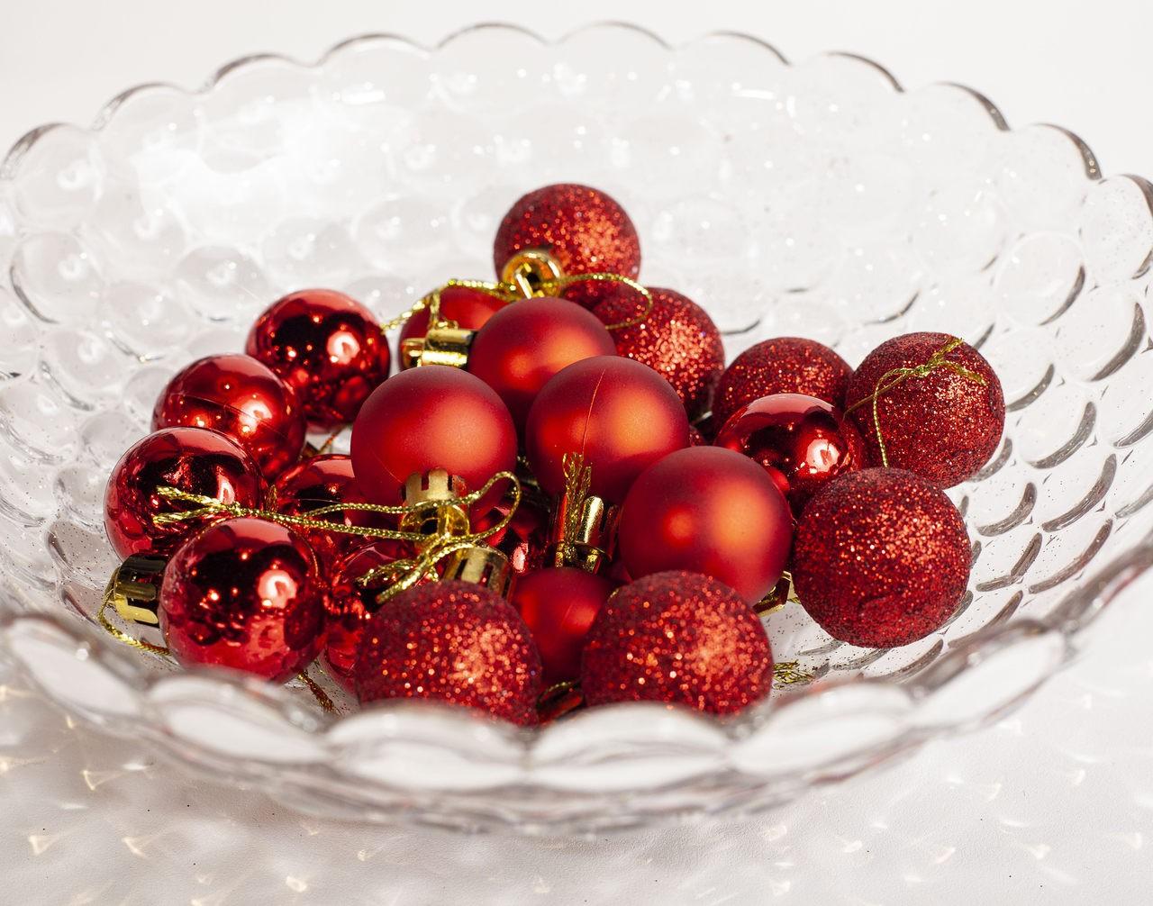 Conjunto Mini Bolas Natalino Vermelho - 24 Un