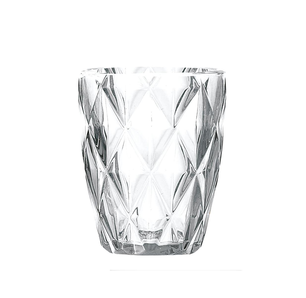 Copo de vidro Diamante Un. -  350ml