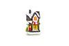 Mini casa natalina com led - 8cm de Altura - MARROM CLARO