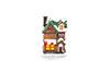 Mini casa natalina com led - 8cm de Altura - VERDE