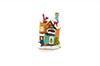 Mini casa natalina com led - 8cm de Altura - AMARELO ESCURO