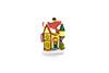 Mini casa natalina com led - 8cm de Altura - AMARELA
