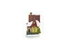 Mini casa natalina com led - 8cm de Altura - Marrom