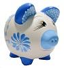 COFRE PORCO BOLA - Bege/florido azul