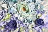 tapete de flor Azul