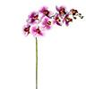 Flor de orquídea - X9 - 93cm - Roxa com branco