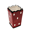 Mini Vaso cerâmica - 8cm - Vermelho