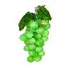 Cacho de Uva - Médio - 22cm Altura X 9cm Largura -  Verde