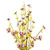 Flor de Campo - 43cm altura X 12cm Largura - Lilas
