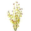 Flor de Campo - 43cm altura X 12cm Largura - Branco com Rosa
