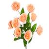 Buquê de rosa - X9 - 37cm Altura x 28cm Largura -  Salmão