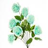 Buquê de rosa - X9 - 37cm Altura x 28cm Largura -  Azul