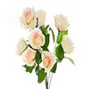 Buquê de rosa - X9 - 37cm Altura x 28cm Largura -  Champanhe e Rosa