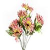 Buquê de Gerbera - X9 - 40cm Altura - Rosa e Amarelo