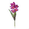 Flor de orquídea C/Folha - X5 - 57cm -  Roxo