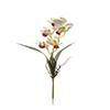 Flor de orquídea C/Folha - X5 - 57cm -  Branco
