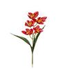Flor de orquídea C/Folha - X5 - 57cm -  Vermelho