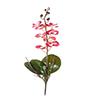 Flor de orquídea C/Folha - X8 - 50cm Altura - Rosa