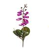 Flor de orquídea C/Folha - X8 - 50cm Altura - Roxo