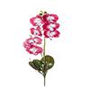 Flor de orquídea C/Folha - X8 - 52cm Altura - Rosa