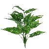Folhagem - X18 - 62cm altura - Verde Escuro com Listras Brancas