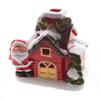 Casa Natalina Nevada com led - 10 cm Altura Noel