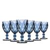 Jogo com 6 Taças Diamante - Vinho 210ml - AZUL