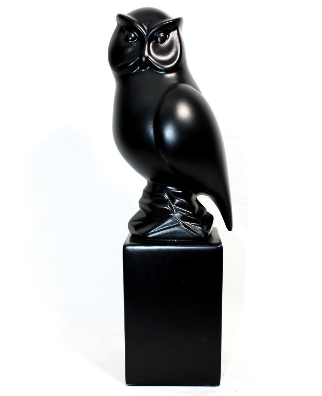 Escultura coruja brilho