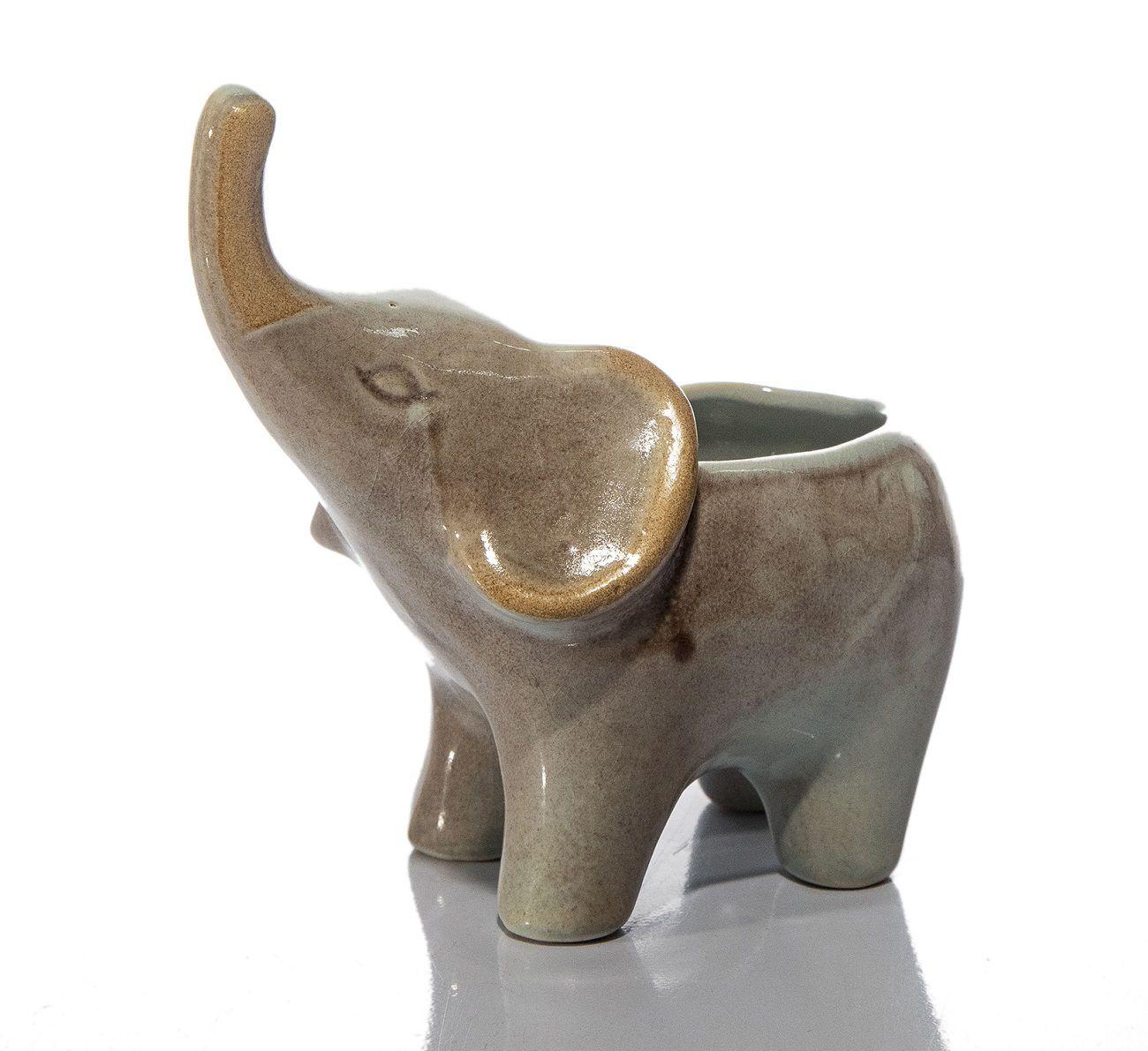 Elefante Com Tromba Erguida