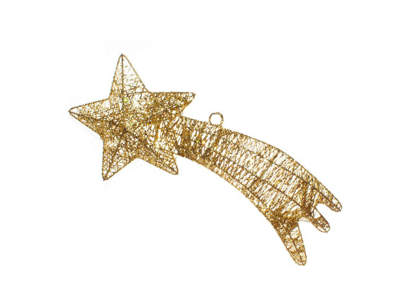 Pendente Estrela Cadente Dourada -  1 Un