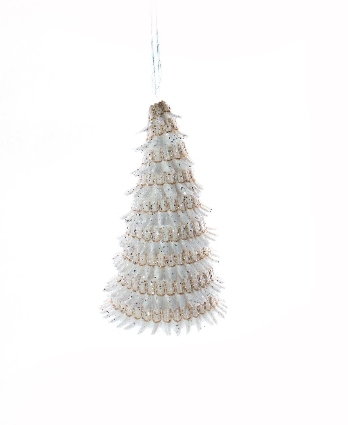 Enfeite Para Pendurar Mini Árvore Natalina Brilhante -  1 Un