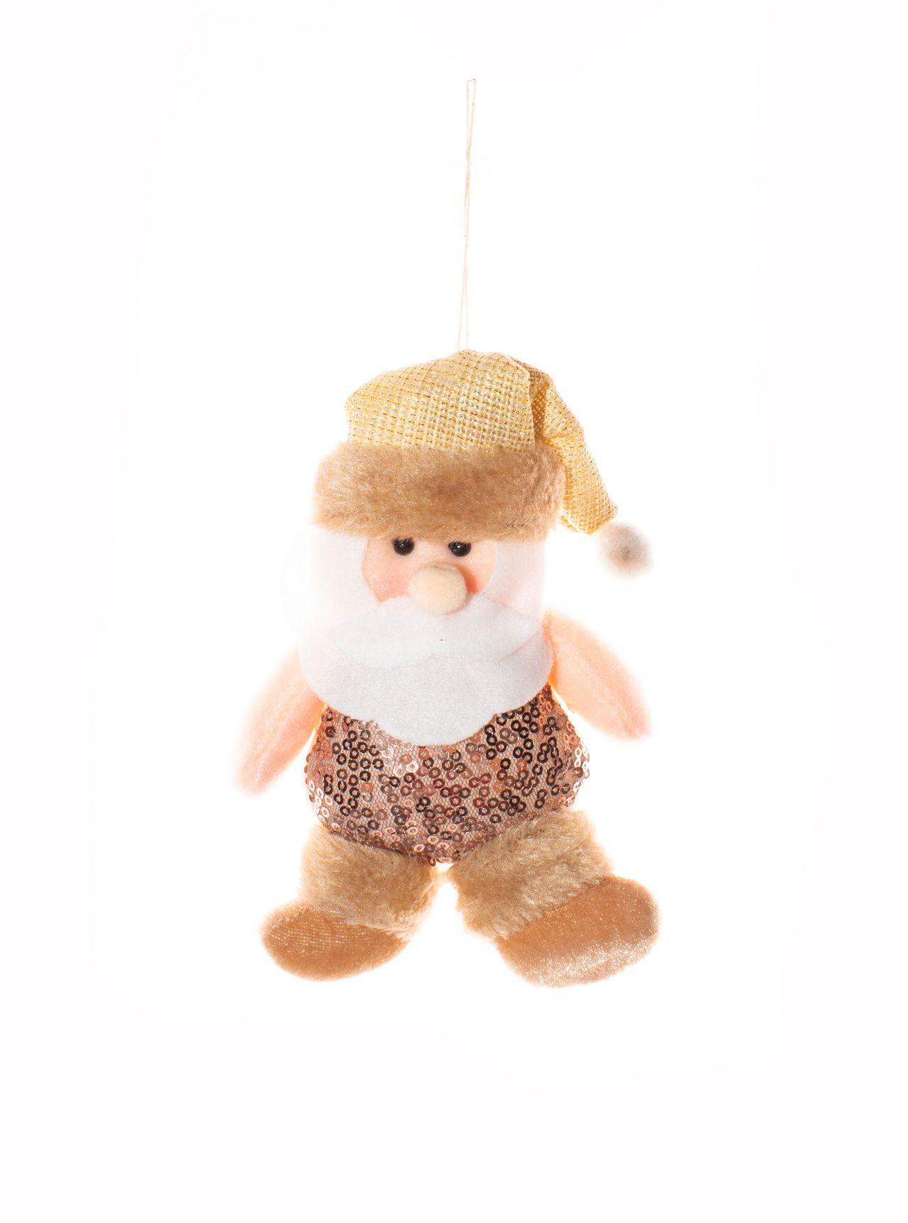 Enfeite para Pendurar Mini Papai Noel Dourado   -  1 UN