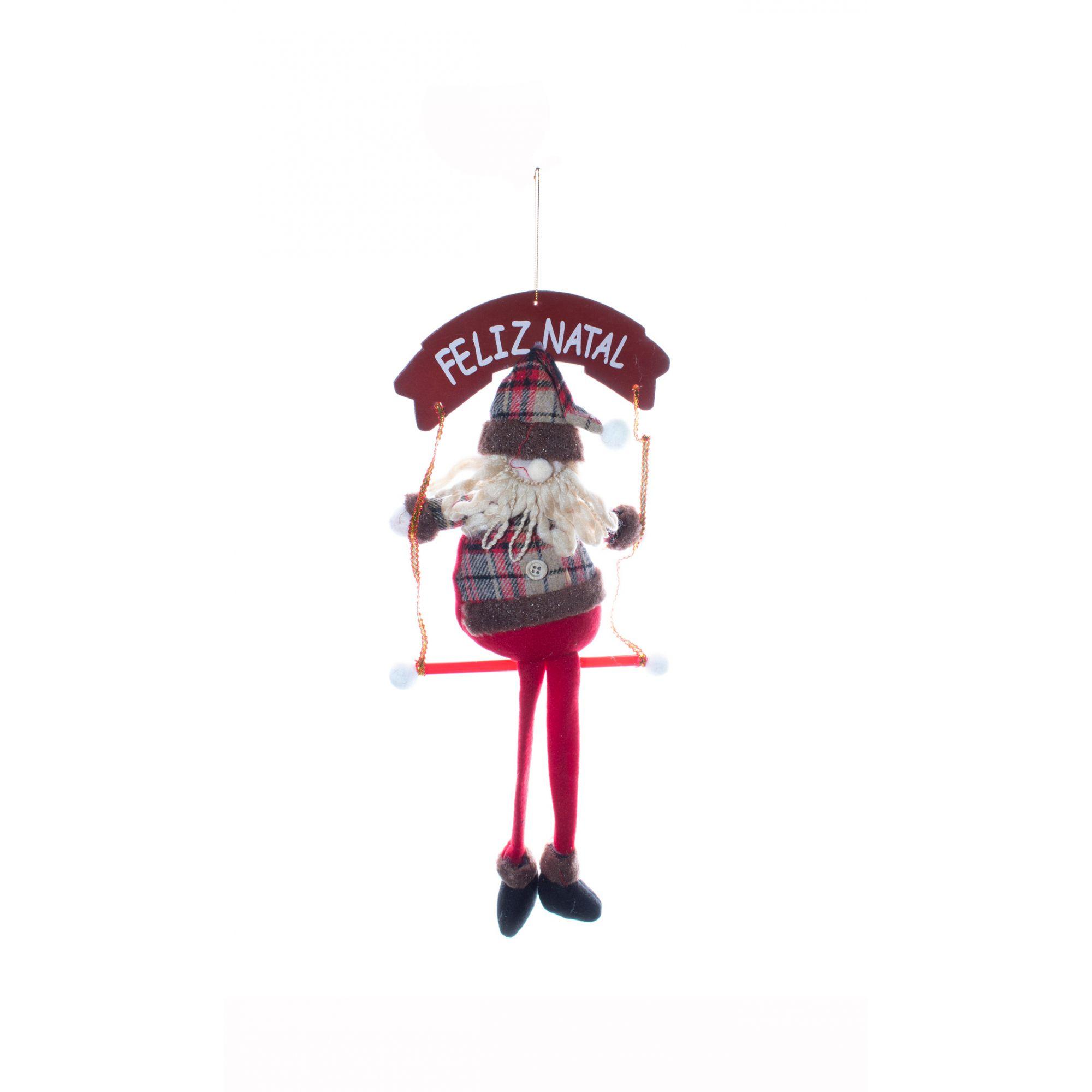 Enfeite Papai Noel Com Balanço -  1 UN