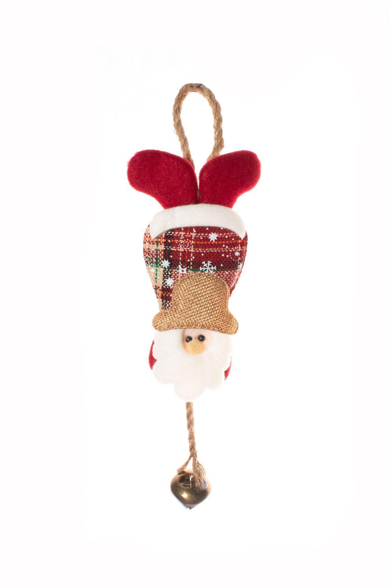 Enfeite De Papai Noel Com Sininho Para Pendurar  -  1 Un
