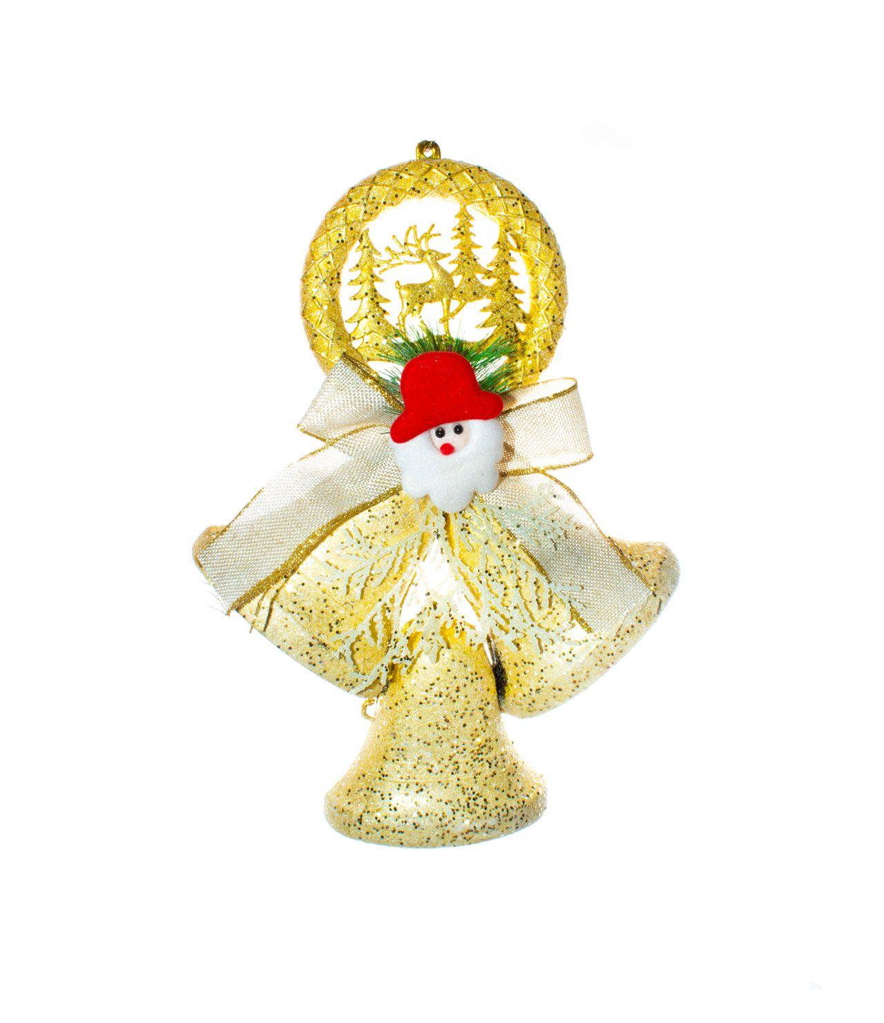 Sino Dourado Com Rosto Papai Noel  -  1 Un