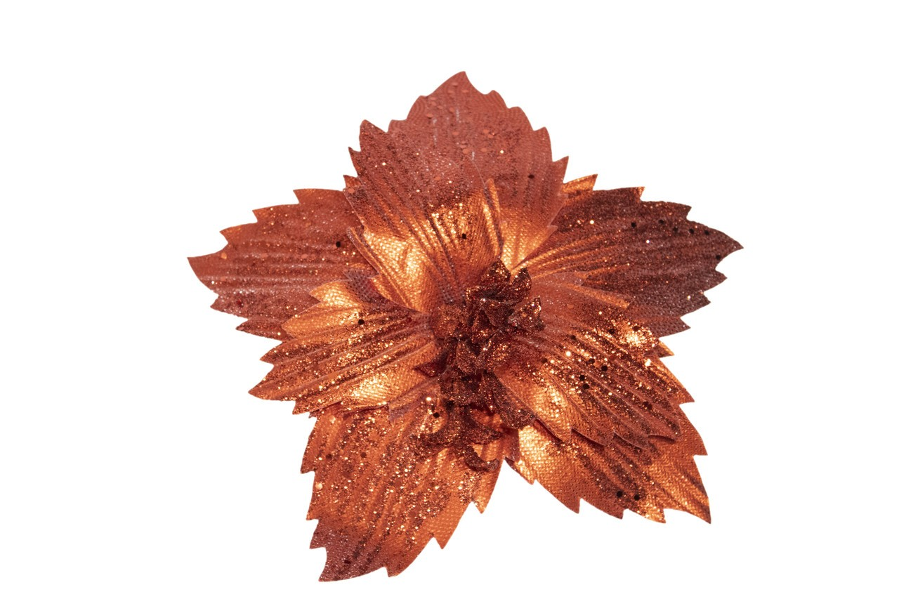 Flor Bico De Papagaio Bronze - 28 Cm De Altura