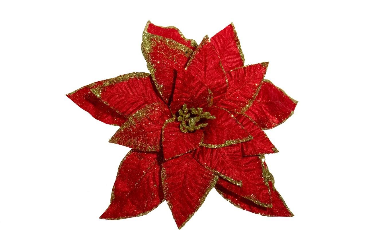 Flor Bico De Papagaio Vermelho - 28 Cm