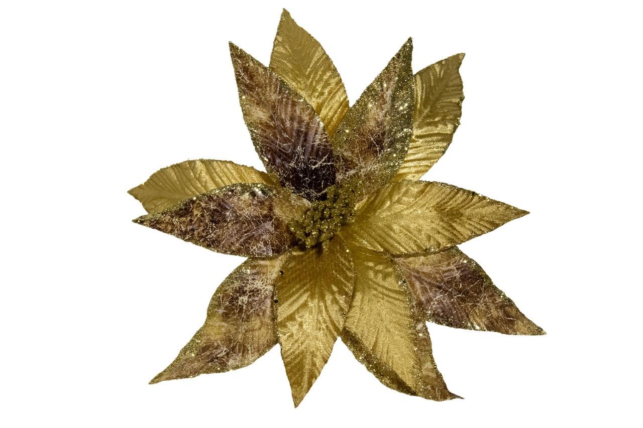 Flor Bico De Papagaio Dourado - 30 Cm De Altura