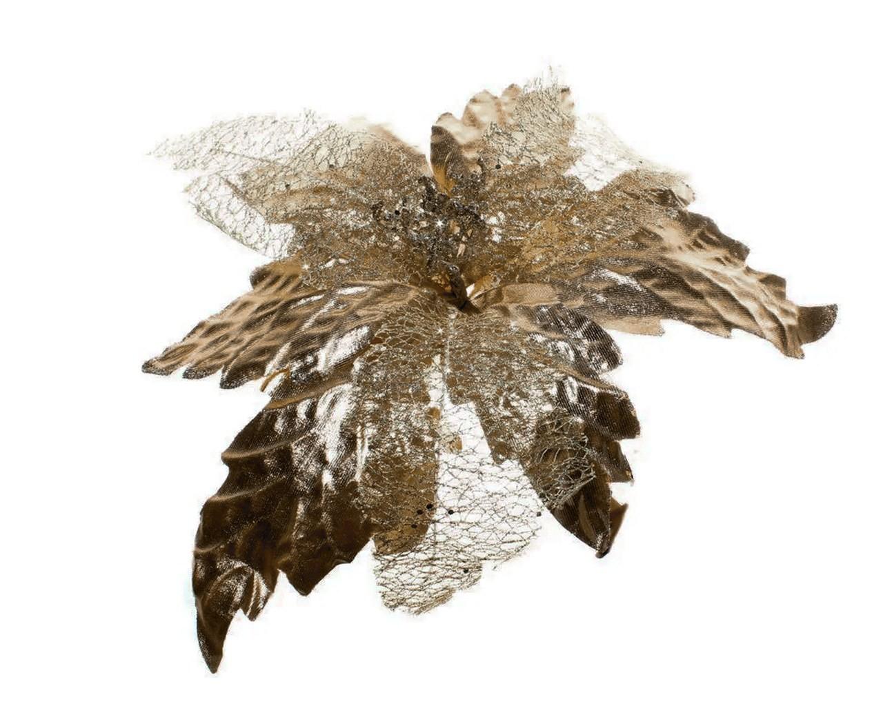 Flor Bico De Papagaio Bronze - 25 Cm De Altura
