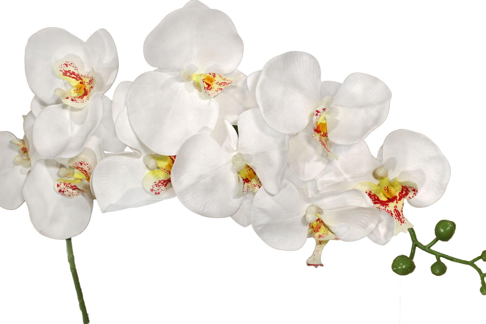 Flor de orquídea Branca 75cm