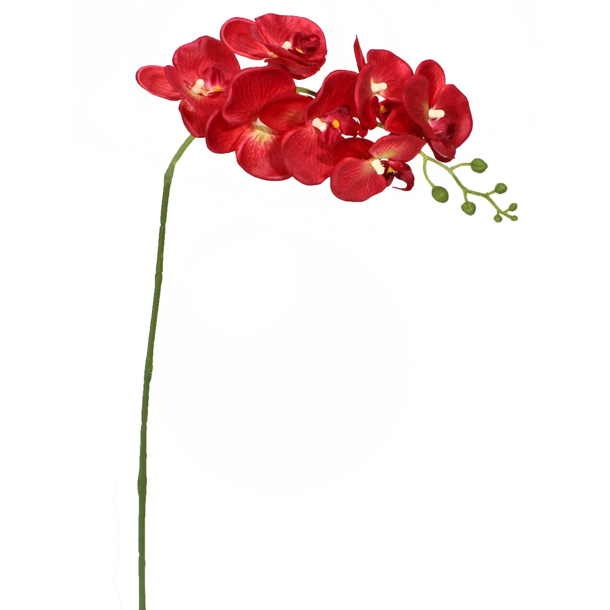 Flor De Orquídea - Tecido - Phalaenopsis X7 - 75Cm