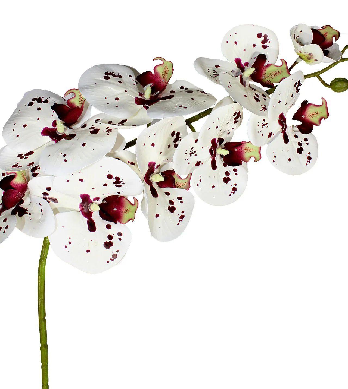 Flor de orquídea - Silicone - X9 - 95cm