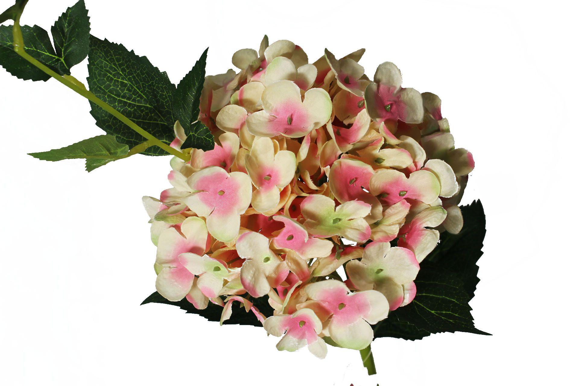 Hortência rosa/creme 65cm