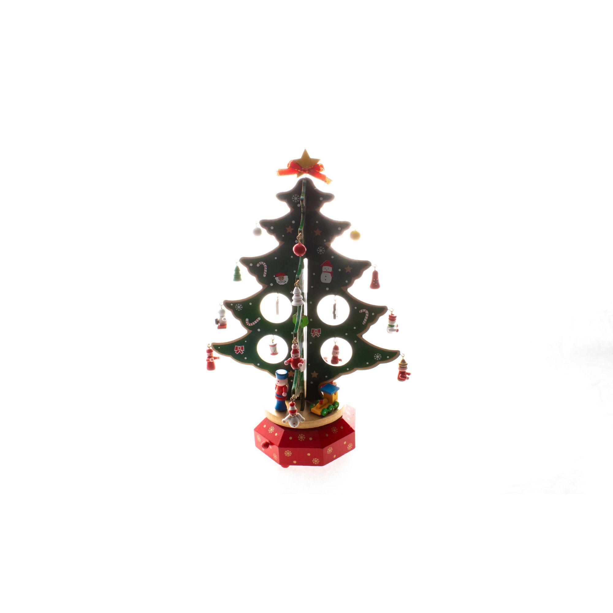 Mini arvore de natal musical - 26 cm Altura