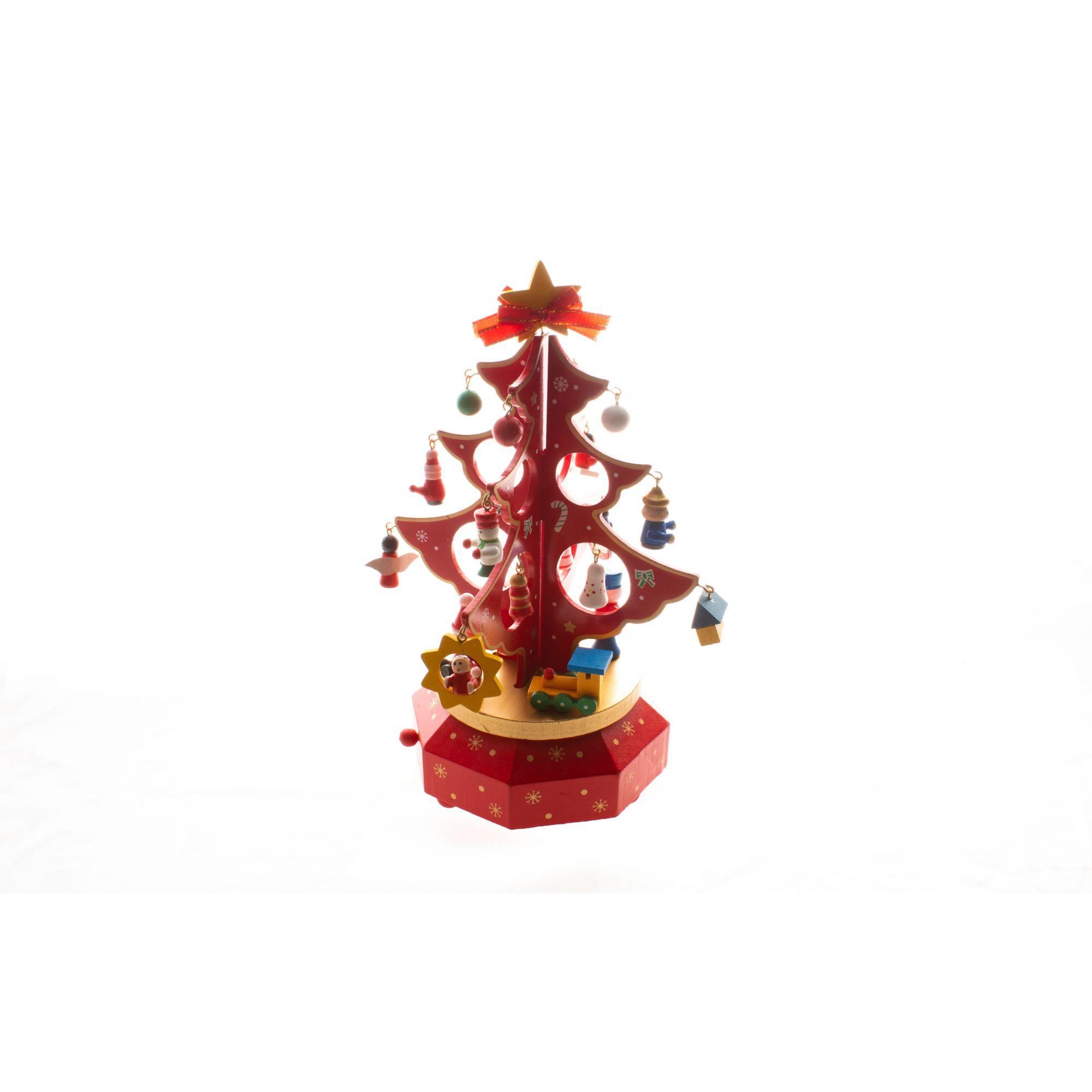 Mini Árvore de Natal Músical - 26Cm de Altura