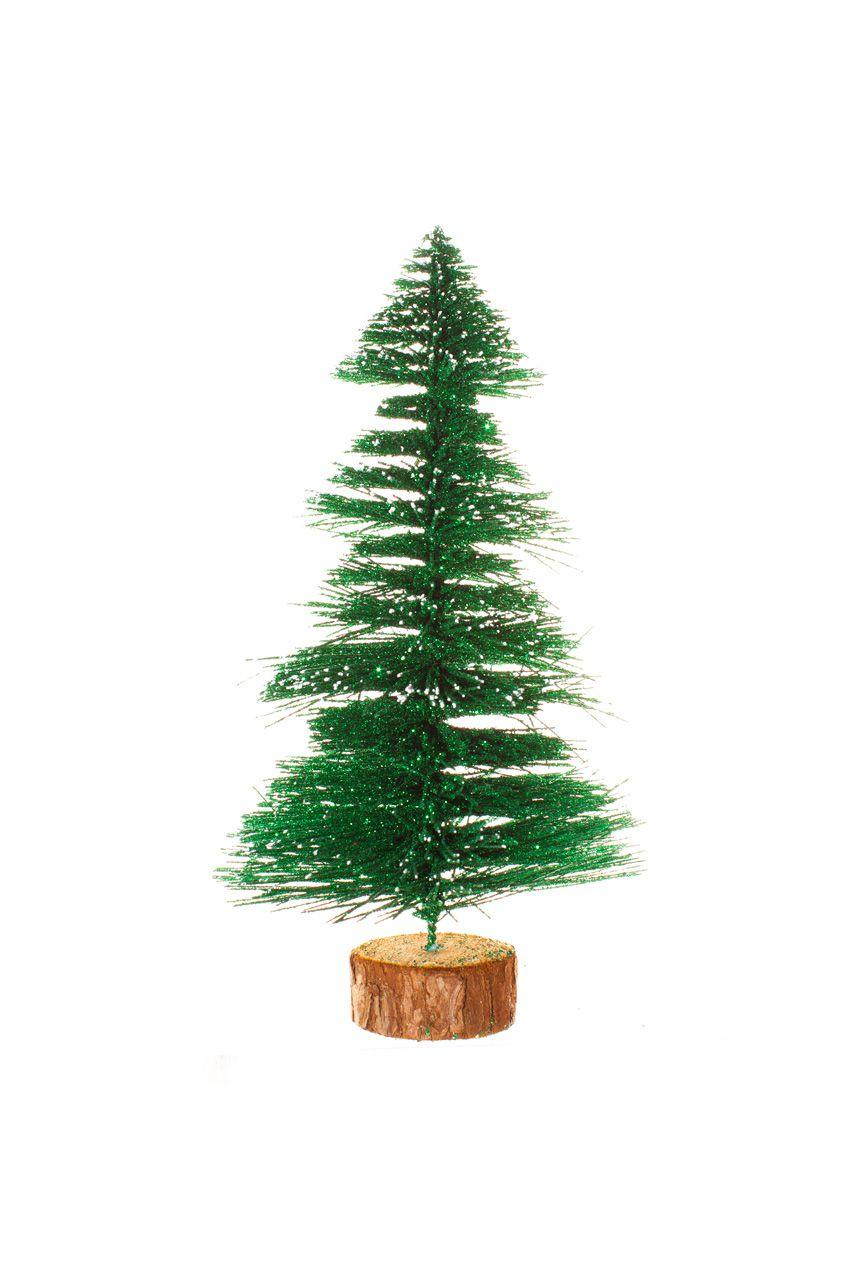 Mini Árvore Natalina Com Tronco - 20 Cm