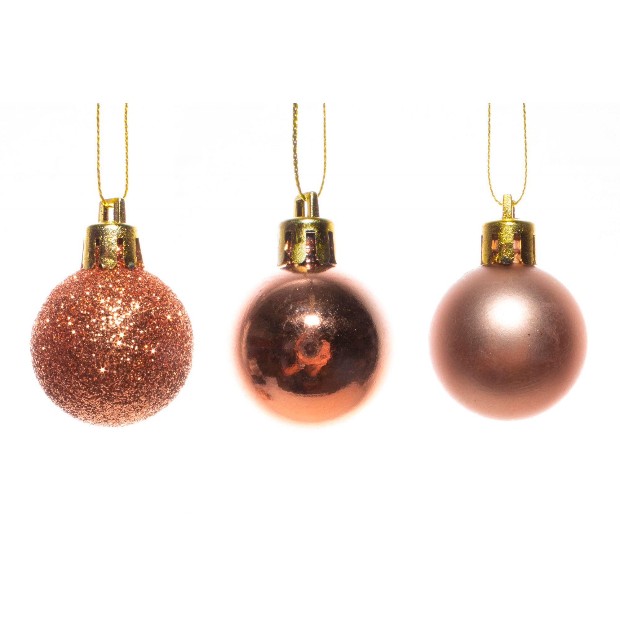 Mini Bolas De Natal Bronze