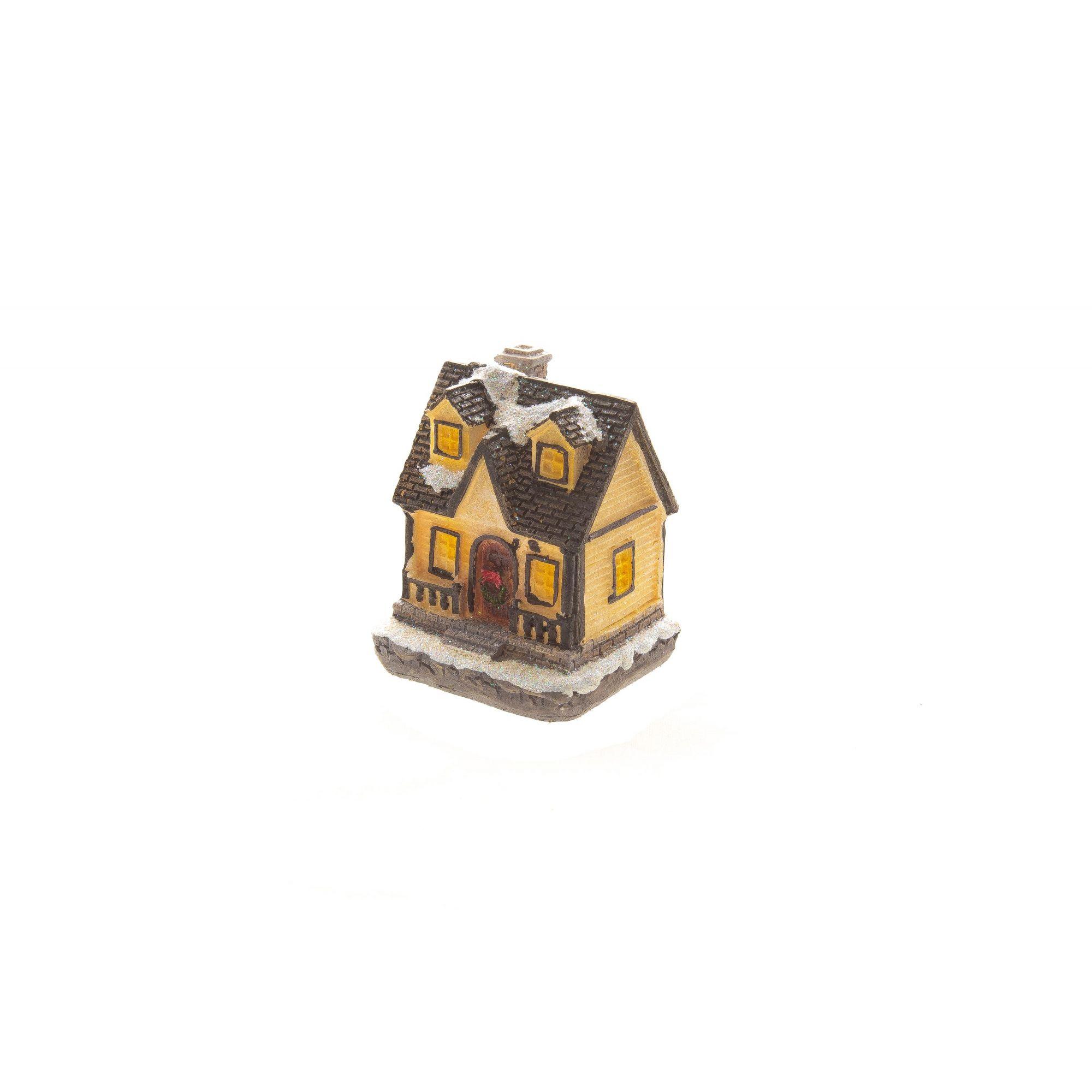 Mini Casa Natalina Com Led Un. - 6Cm